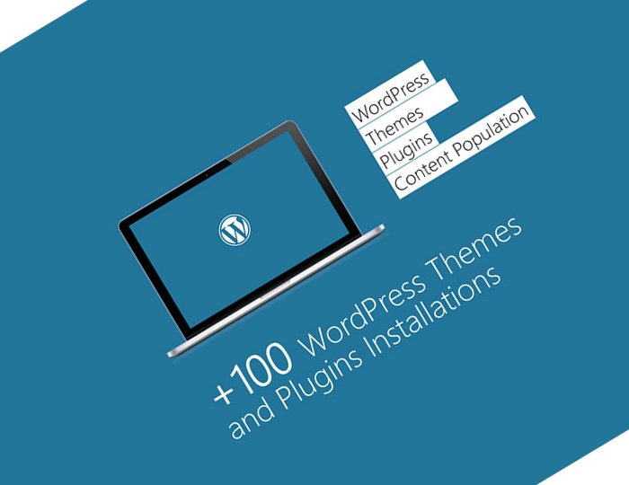 hundreds of wordpress themes & plugins installs